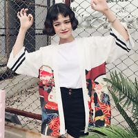 Japanese Women Kimono Coat Jacket Cardigan Loose Retro Vintage Long Sleeve New