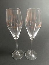 Nachtmann Crystal Champagne Glasses Flutes LOT OF 2