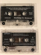 Holiday in Greece & Zorba's Dance - Greek Music 1990s SET of 2 audio Cassettes