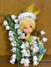 """Vintage 1968 Flower Darlings LILY Liddle Kiddle Doll & Pin Hasbro 5"""""""