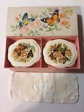 Vintage Avon Fragranced Hostess soaps Butterflies and Blossoms NIB 2 3 oz soaps