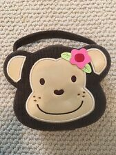 Monkey Jewelry Purse Makeup Brown Used Corduroy
