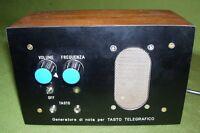 Generatore di nota CW per apprendimento telegrafia