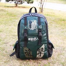 Anime Attack on Titan no Kyojin Scouting Shoulder Bag Backpack Green