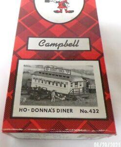 Campbell HO Kit no's 424,432. water Tower, diner. set of 2,NOS,  Estate Find
