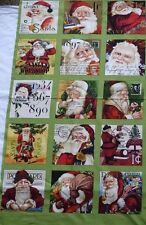 CHRISTMAS CRAFT FABRIC PANEL *FATHER CHRISTMAS SQUARES*