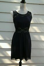 NEW ENFOCUS PETITE WOMAN'S DRESS BLUE LACE SIZE 6 BRIDESMAID FORMAL CASUAL