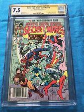 Marvel Super Heroes Secret Wars #3 - Marvel - CGC SS 7.5 -Signed by Zeck, Beatty