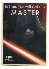 2015 Topps Chrome Star Wars Jedi vs Sith Propaganda 3 Master