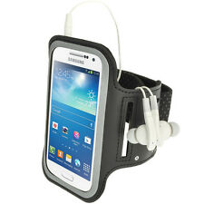 Schwarz Anti-Rutsch Sports Armband für Samsung Galaxy S4 SIV Mini I9190 I9195