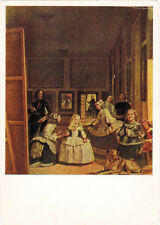 1966 Russian postcard LAS MENINAS by Spanish painter Diego Velázquez
