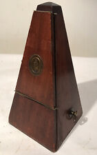 "Antique Metronome by Metronome de Maelzel, USA Vintage 9"" Wind Up Adjustable"