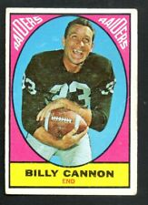 1967 Topps Football Card #109 Billy Cannon-Oakland Raiders.