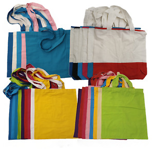 Cotton Lightweight Shoulder Tote Shopper Reusable Bags, Choose Style & Colour