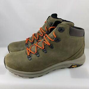 Merrell Ontario Vibram Olive Green Mid Hiking Boots ( Men's Size 13 ) J53209
