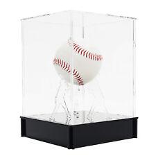 Baseball display case with holder on acrylic base, Cube type,