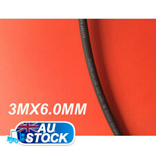 3MX6.0mm Dia. Black Shrinkable Tube Sleeving Wrap Wire Heat Shrink Tubing