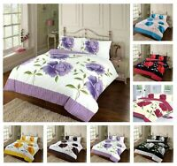 New Design ROSALEEN Printed Reversable Duvet Cover+Pillow Case Bedding Set Nz