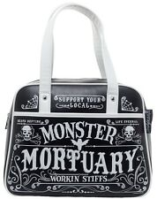 "Sourpuss ""Workin Stuffs"" Black Bowler Purse Retro Pinup Rockabilly Handbag"