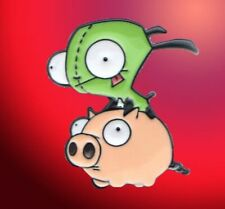 Gir Riding a Pig Enamel Pin