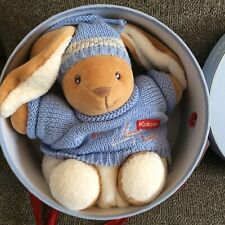 Kaloo Blue Brown Bunny Rabbit Teddy Baby Soft Toy Plush Comforter Doudou BNIB