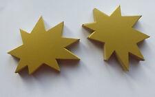 50 Sterne 100 x 120 mm goldfa. Karton Werbesymbol Schaufenster deko Preisschild