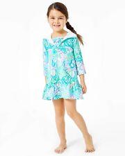 NWT Lilly Pulitzer UPF 50+ Girls Cooke Cover-Up Blue Ibiza Aqua La Vista Sz XL