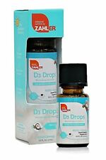 Zahler Vitamin D3 Liquid 400iu Toddlers Vitamin D Drops for infants - .5oz
