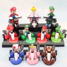 10 pcs set Takara Tomy DK Figures Toy Super Mario Mini Car Kart Luigi Yoshi Toad