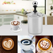 400cc Stainless Steel Milk Frother Double Mesh Foamer DIY Fancy Coffe Cream OXL