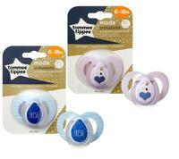 Tommee Tippee Moda Orthodontic Dummy Pacifier BPA Free Soother 6-18 M 2 Colours