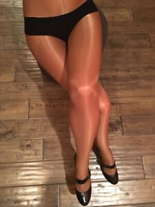 Aria Shimmery Shiny Glossy Dance Tights Pantyhose with a Full leg support