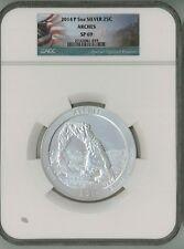 2014 P 25c 5 oz Specimen Silver ATB America Beautiful - Arches SP69 NGC