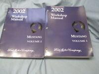 2002 FORD MUSTANG Volume 1&2 Service Shop Workshop Manual Set OEM