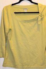 Banana Republic L Silk Knit Spring Top Kiwi Green