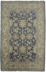 Floral Muted Colors Room Size 5X8 Oushak Chobi Oriental Rug Hand-Knotted Carpet