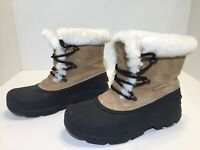 Sorel Snow Angel Women's Tan Suede Fur Lined Winter Boots Size 7