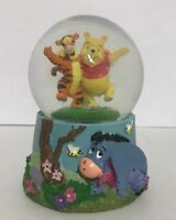 Disney Winnie the Pooh and Tigger Eeyore Musical Music Snow Globe Kcare