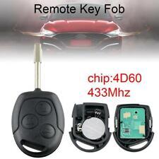 Cover Chiave Telecomando Tasto a Chiave 3 Tasti Remoto Chiave Blade Fob 433MHz con Chip 4D60 per Focus//Mondeo//C Max//S Max//Fiesta//Galaxy