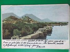 Indien Anna Sagar Lake Ajmere nach England Jersey 09.01.1908 Brit. Kolonie DNG