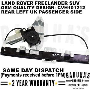 Land Rover Freelander 1 Rear Window Regulator Motor Left Passenger Side Electric