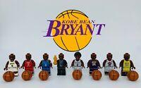 NBA Kobe Bryant MVP 8pcs Minifigures Custom Set. Four-Sided Printing !!