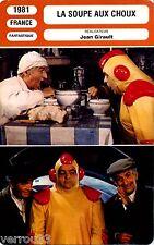 Fiche Cinéma. Movie Card. La soupe aux choux (France) 1981 Jean Girault