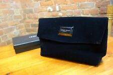 GIORGIO ARMANI large black velvet clutch bag. Used once. Comes in gift box