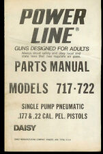 *Copy Daisy Power Line 717/722 Pellet Pistol Gun Illustrated Parts List Manual