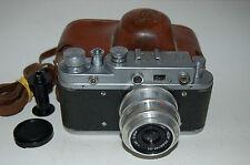 ZORKI-C, 1957 vintage soviet Rangefinder Camera, Industar - 50 & Case. 57210324
