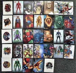 Lot of 30+ Preziosi Marvel Heroes Stickers 2008 - No Duplicates