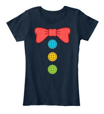 Clown Suit Bow Tie And Buttons Costume Women's Premium Tee T-Shirt