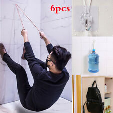 6PCS Strong Clear Suction Cup Sucker Wall Hooks Hanger For Home Kitchen Bathroom