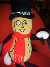Planters Mr. Peanut plush with red scarf 28 inches tall